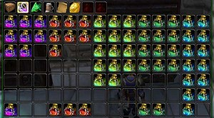 My guild bank's flask tab